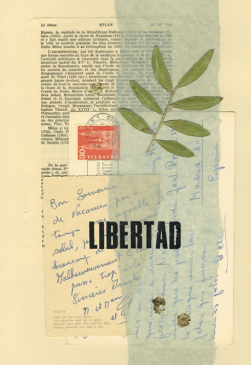 Print Collage PALABRAS / Libertad