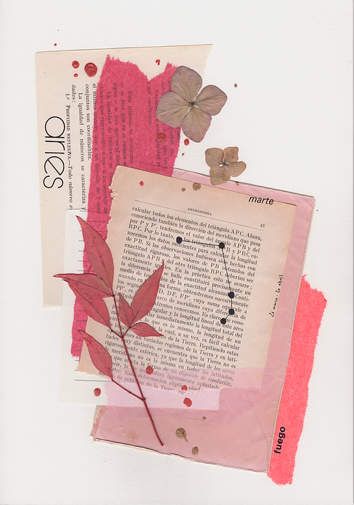 Print Collage ZODIACO / Aries