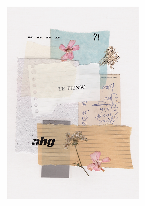 "Collage ""Te pienso"" / GRANDE"