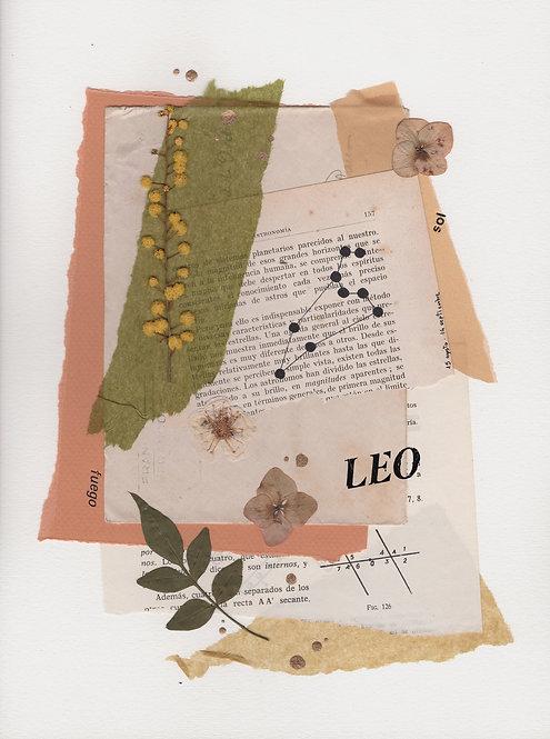 Print Collage ZODIACO / Leo