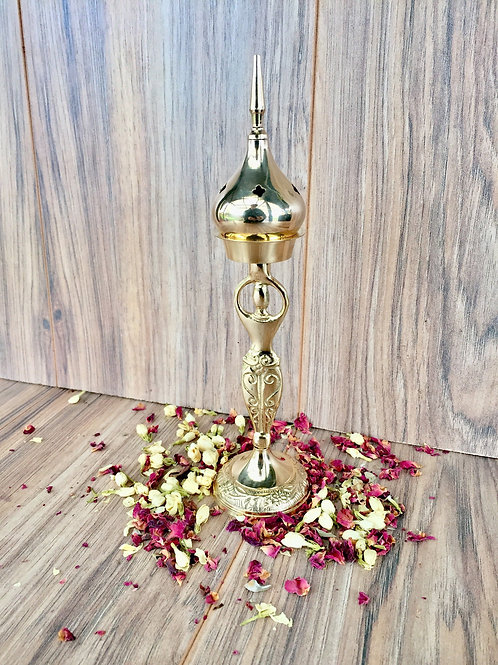 Brass Goddess Incense Burner