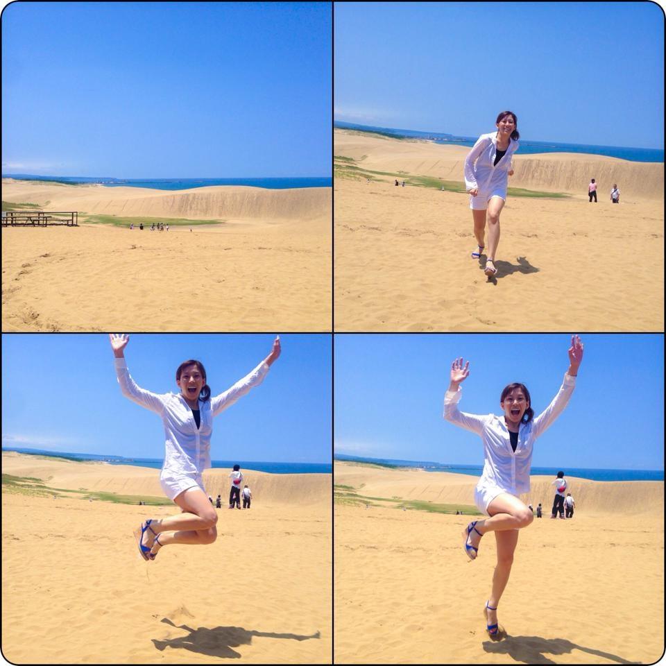 砂丘ジャンプ