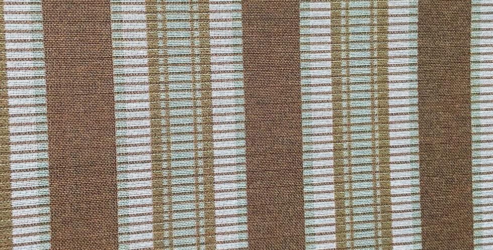 Outdoor Stripe - Aqua Teal Brown