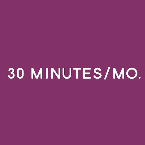 30 Minutes/Mo