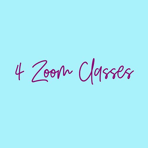 4 Zoom Classes-APRIL