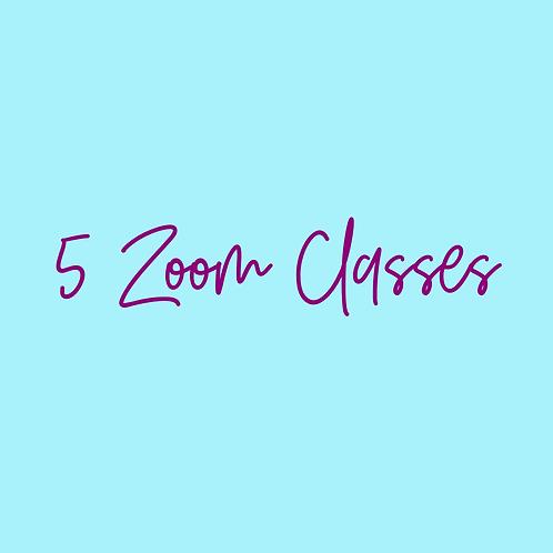 5 Zoom Classes-APRIL