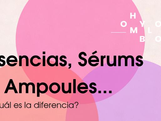 Esencias, Sérums y Ampoules...¿Cuál es la diferencia?