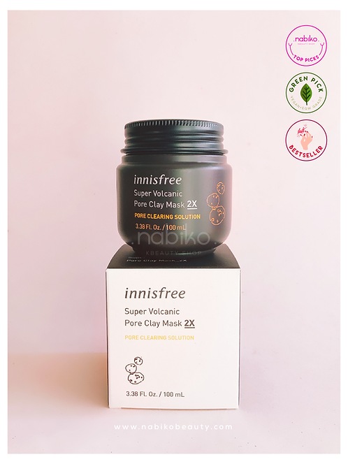 Innisfree: Super Volcanic Pore Clay Mask 2X