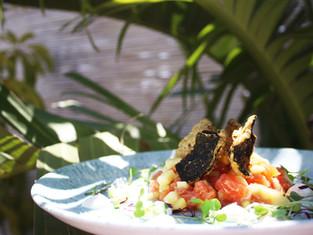 tartar de salmon restaurante playa