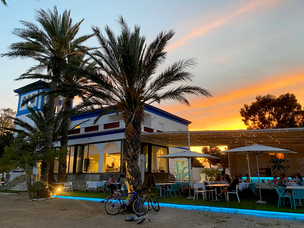 sunset beach mar menor restaurant with views