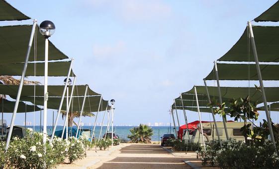 Parcelas Caravanas Primera Linea Playa Camping Mar Menor