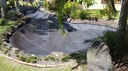 pond Sprayed with AIS Liquid Rubber