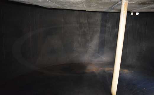 A water tank sealed by All industry Services with Liquid Rubber