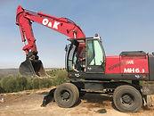 excavadora de ruedas usada, O&K, caterpillar, Komatsu, volvo, hyundai, doosan