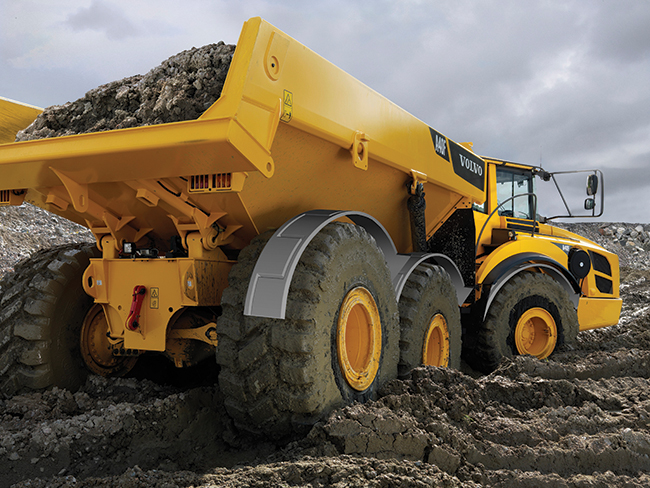 Bell, articulated dump trucks, ATD