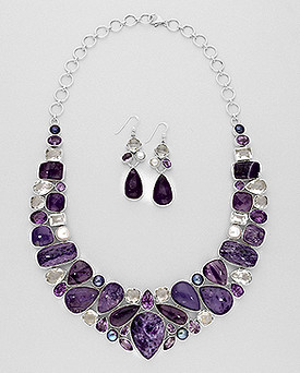 925 Sterling Silver Set of Necklace and
