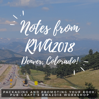 Packaging and Promoting Your Book - our RWA2018 workshop slides are available now!