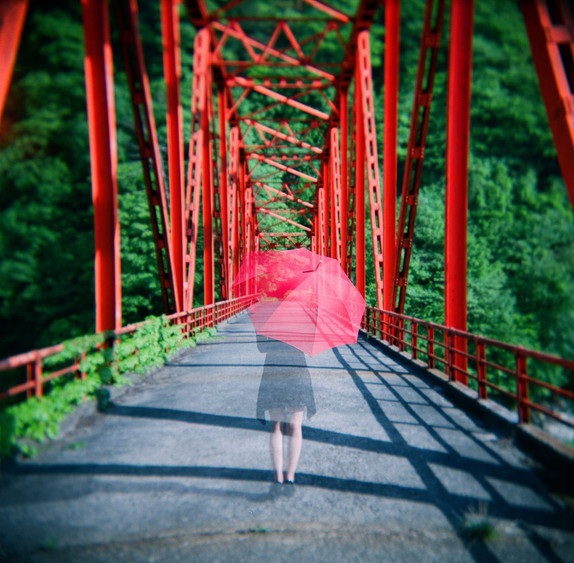a ghost on the bridge