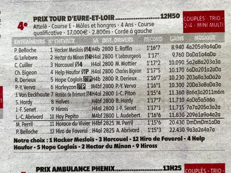Courses Hippiques: Prix du Tour d'Eure-et-Loir demain...