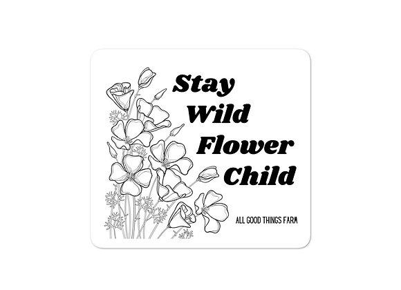 Stay Wild Flower Child Sticker