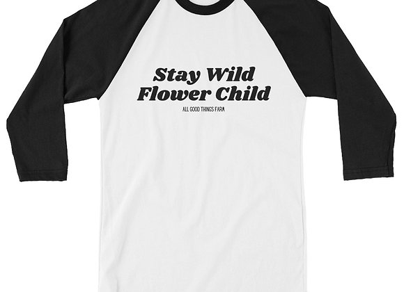 Stay Wild Flower Child Baseball Tee