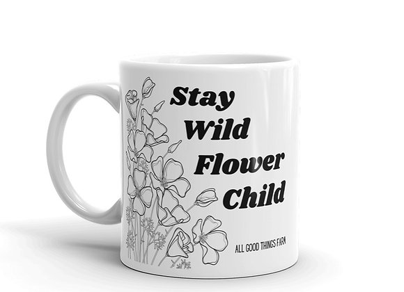 Stay Wild Flower Child Mug