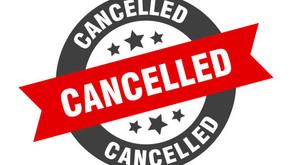 URGENT NOTICE - Program Cancelled