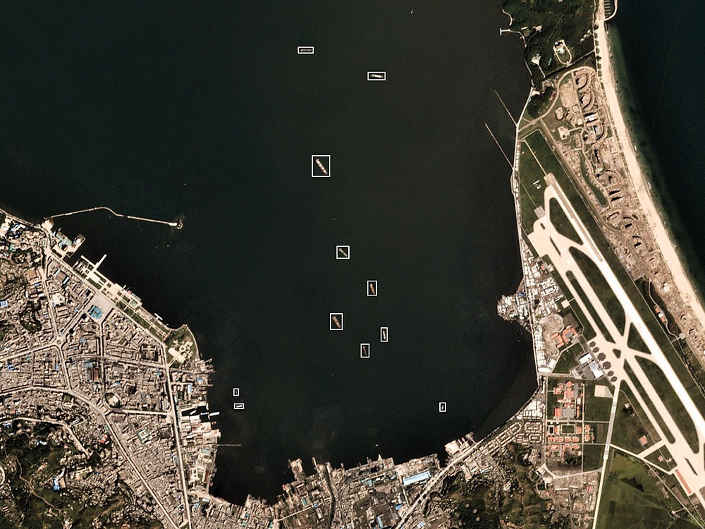 Vessel detection in Port of Wonsan, North Korea.Source: Terra Bella, Planet.com