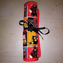 Marvel comics brush scroll