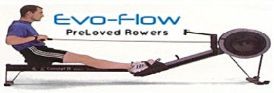 evoflow, serviced concept 2 rowing machines, used concept 2 rowing machine, rowing machine foot straps,used Concept 2