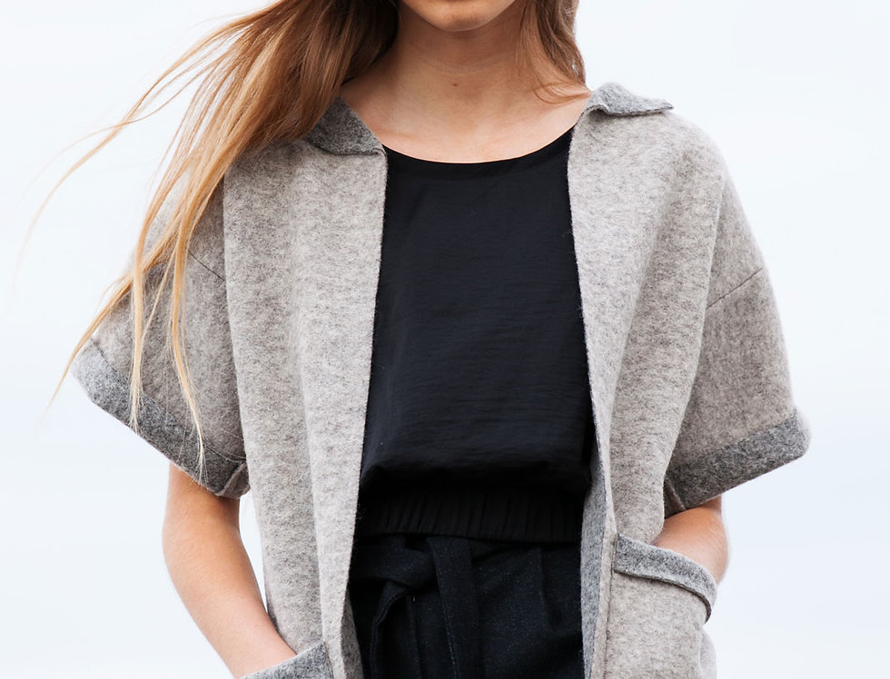 Square Wool Jacket