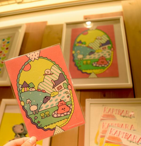 作品とポストカード