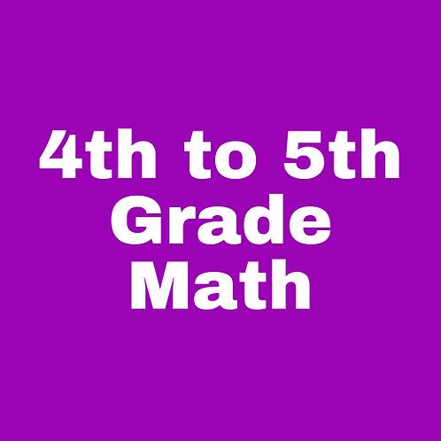4th to 5th Grade Math Transition