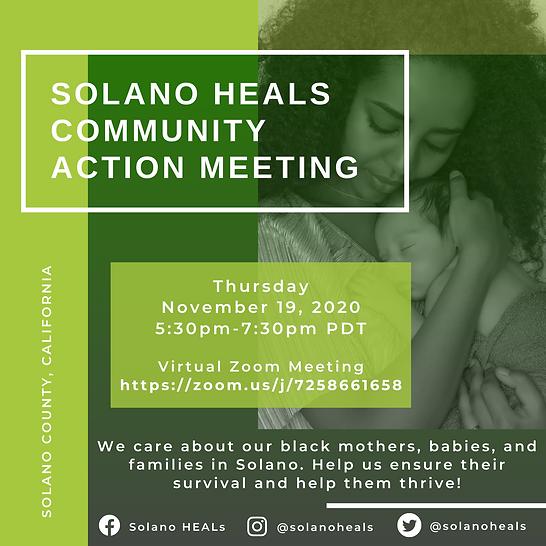 Solano Heals Community Meeting-November.