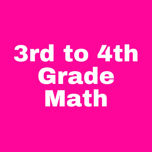 3rd to 4th Grade Math Transition