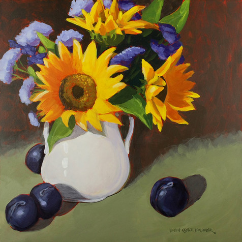 Sunflowers and Plums