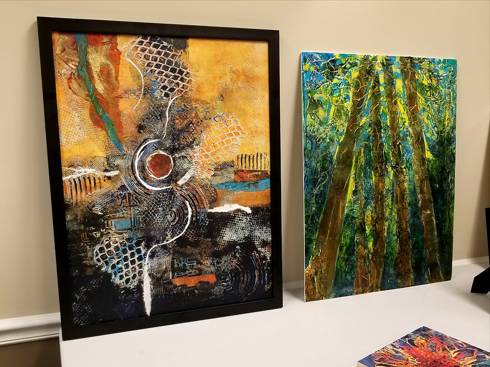 Jane Wolf's artwork on display