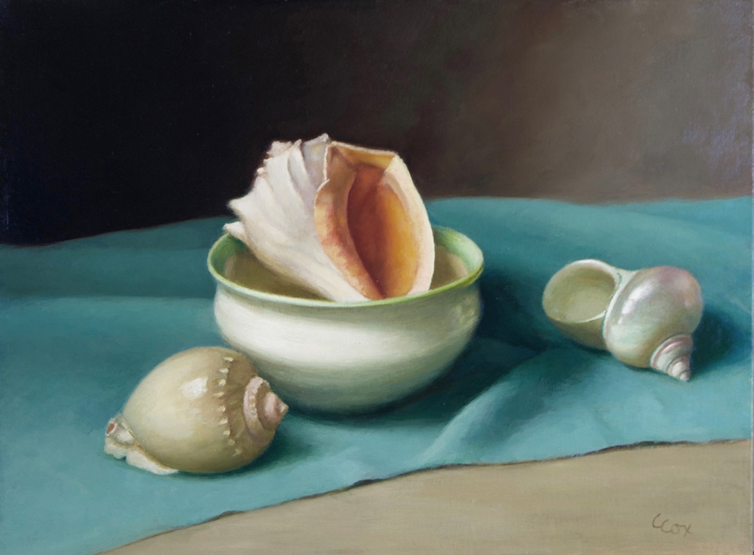 Shells and Turquoise Cloth
