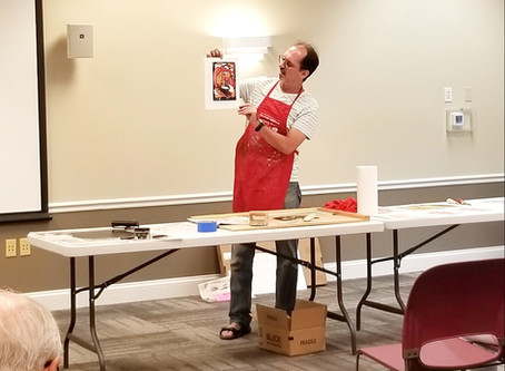 Reduction Linocut Process with Doug Anderson