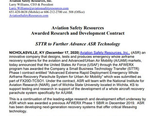 ASR Awarded STTR Contract