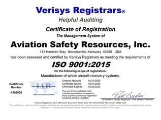 ASR ISO 9001 Registration