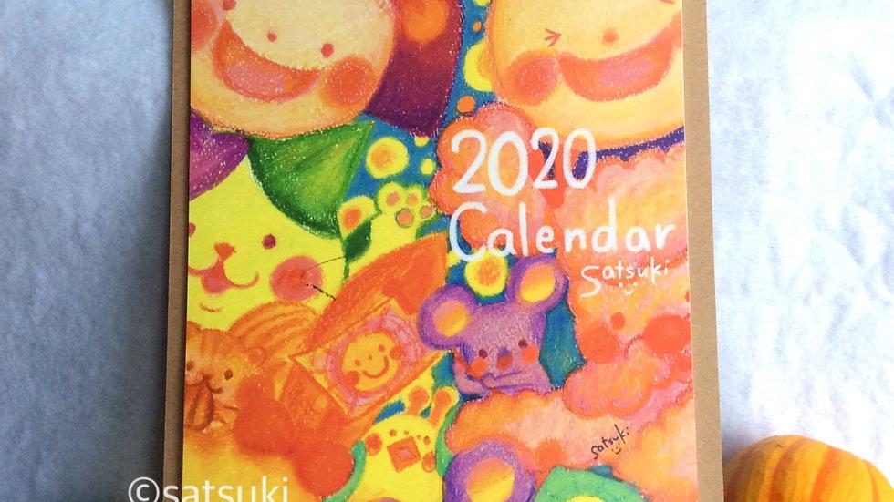 2020satsukiカレンダー(クリップボードタイプ)