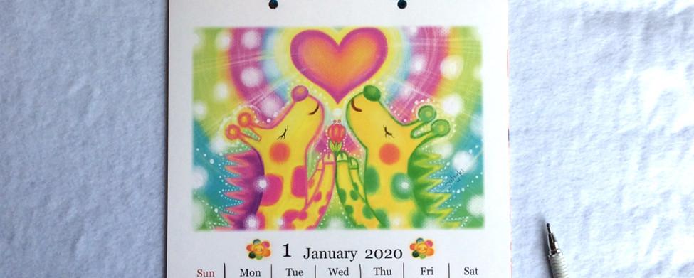 2020カレンダー1月
