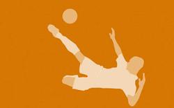 Painel Ases do Futebol - Sépia