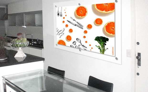 Painel Tangerinas na Cozinha