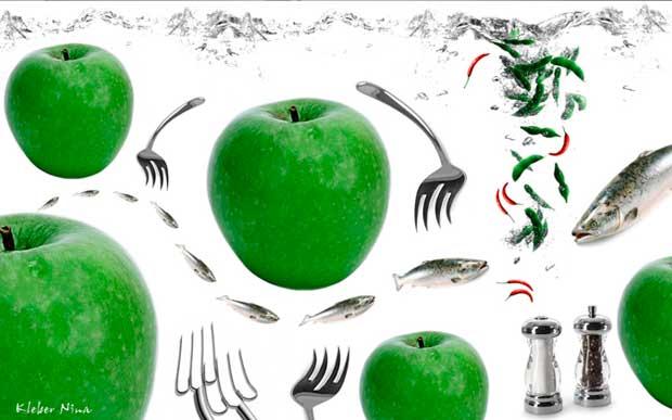 Cozinha Maçãs Verdes