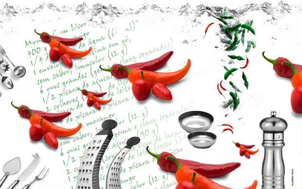 Painel Cozinha Pimentas