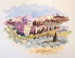 View of Cortona - Morning