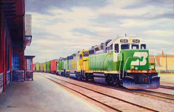 Pulling into the BNSF Depot