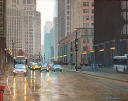 Michigan Avenue Rain